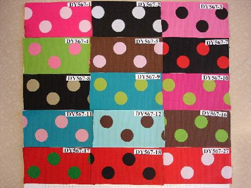"1.5"" Grosgrain reversible dot"